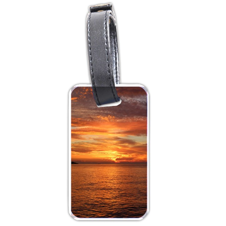 Sunset Sea Afterglow Boot Luggage Tags (One Side)