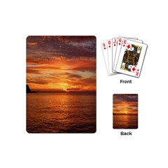 Sunset Sea Afterglow Boot Playing Cards (Mini)