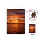 Sunset Sea Afterglow Boot Playing Cards (Mini)  Back