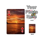 Sunset Sea Afterglow Boot Playing Cards 54 (Mini)  Front - Heart9