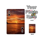 Sunset Sea Afterglow Boot Playing Cards 54 (Mini)  Front - Spade5