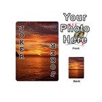 Sunset Sea Afterglow Boot Playing Cards 54 (Mini)  Front - Joker1