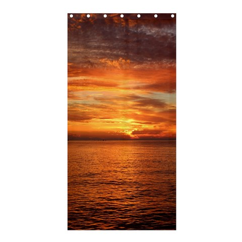 Sunset Sea Afterglow Boot Shower Curtain 36  x 72  (Stall)