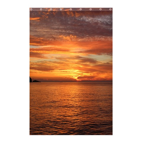 Sunset Sea Afterglow Boot Shower Curtain 48  x 72  (Small)