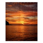 Sunset Sea Afterglow Boot Shower Curtain 60  x 72  (Medium)  60 x72 Curtain