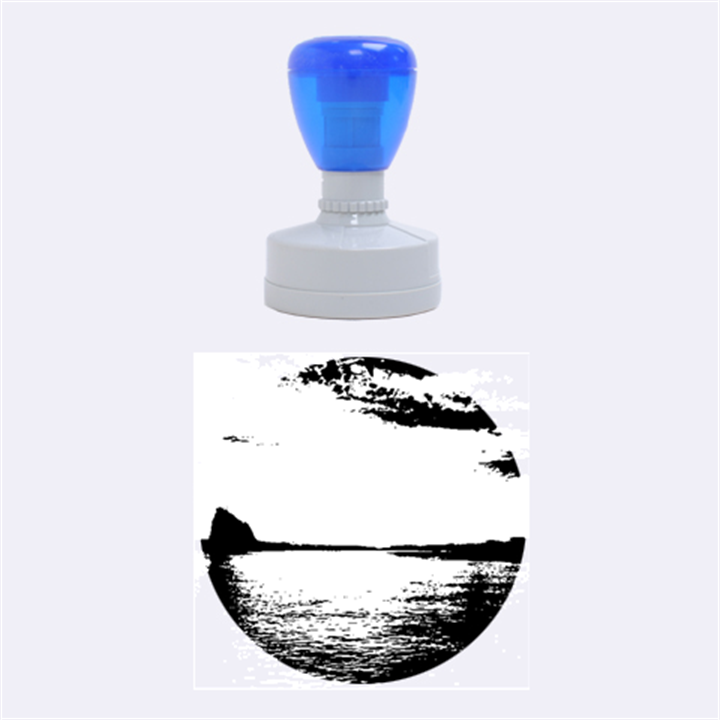 Sunset Sea Afterglow Boot Rubber Round Stamps (Medium)