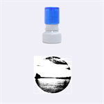 Sunset Sea Afterglow Boot Rubber Round Stamps (Small) 1.12 x1.12  Stamp