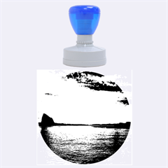 Sunset Sea Afterglow Boot Rubber Round Stamps (Large)