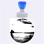 Sunset Sea Afterglow Boot Rubber Round Stamps (Large) 1.875 x1.875  Stamp