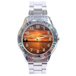 Sunset Sea Afterglow Boot Stainless Steel Analogue Watch Front
