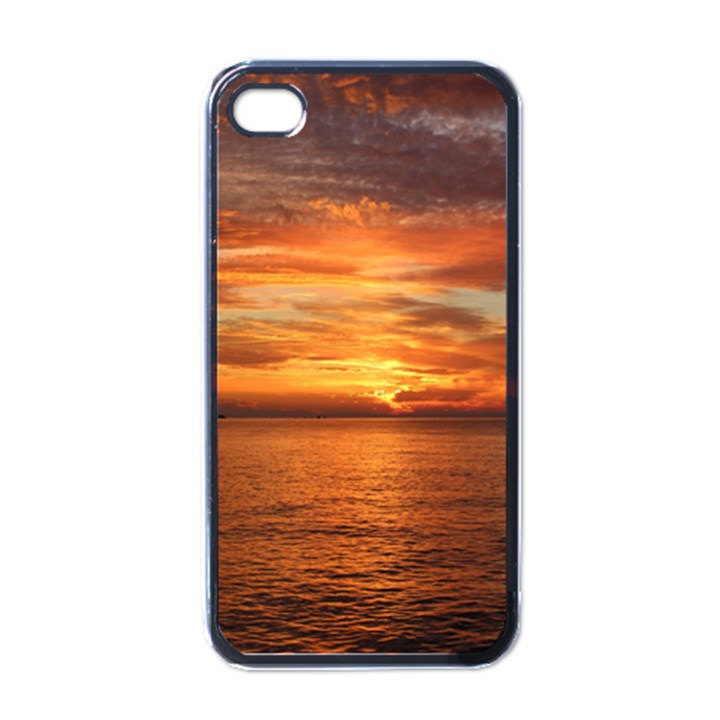 Sunset Sea Afterglow Boot Apple iPhone 4 Case (Black)
