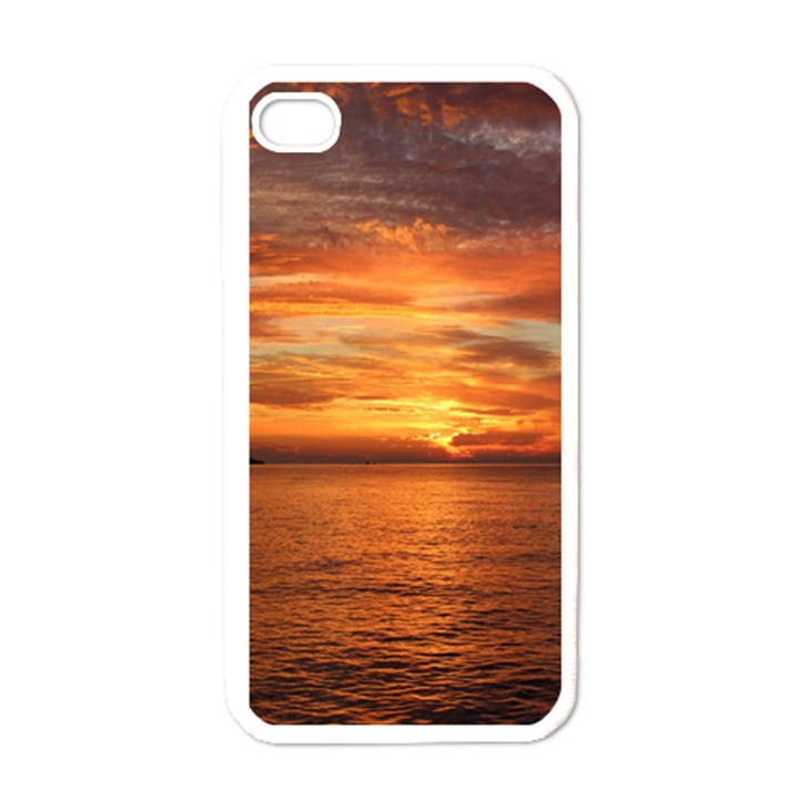Sunset Sea Afterglow Boot Apple iPhone 4 Case (White)