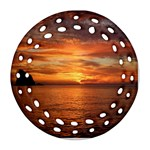 Sunset Sea Afterglow Boot Ornament (Round Filigree)  Front