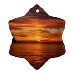 Sunset Sea Afterglow Boot Snowflake Ornament (2-Side) Back