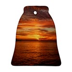 Sunset Sea Afterglow Boot Bell Ornament (2 Sides) Back