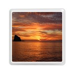 Sunset Sea Afterglow Boot Memory Card Reader (Square)  Front