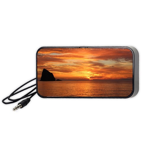 Sunset Sea Afterglow Boot Portable Speaker (Black)