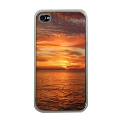 Sunset Sea Afterglow Boot Apple iPhone 4 Case (Clear)