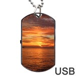 Sunset Sea Afterglow Boot Dog Tag USB Flash (One Side) Front
