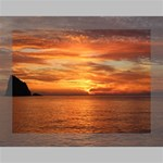 Sunset Sea Afterglow Boot Deluxe Canvas 16  x 12   16  x 12  x 1.5  Stretched Canvas