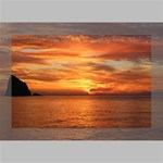 Sunset Sea Afterglow Boot Deluxe Canvas 18  x 12   18  x 12  x 1.5  Stretched Canvas