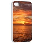 Sunset Sea Afterglow Boot Apple iPhone 4/4s Seamless Case (White) Front