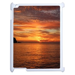 Sunset Sea Afterglow Boot Apple iPad 2 Case (White)