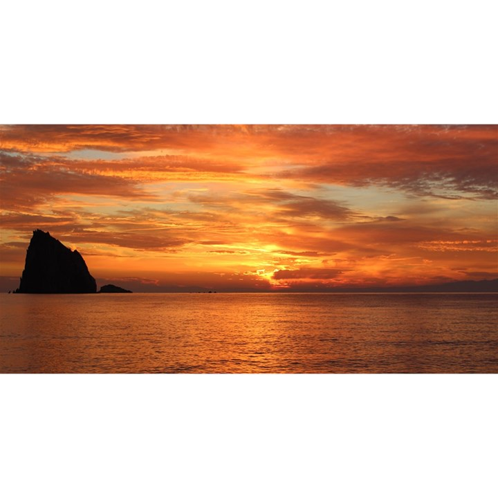 Sunset Sea Afterglow Boot YOU ARE INVITED 3D Greeting Card (8x4)