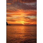 Sunset Sea Afterglow Boot WORK HARD 3D Greeting Card (7x5) Inside