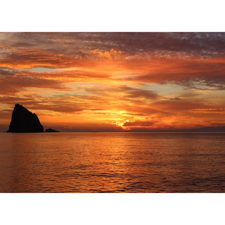 Sunset Sea Afterglow Boot Birthday Cake 3D Greeting Card (7x5)
