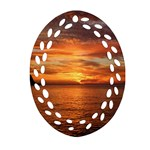 Sunset Sea Afterglow Boot Oval Filigree Ornament (2-Side)  Back