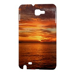 Sunset Sea Afterglow Boot Samsung Galaxy Note 1 Hardshell Case