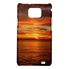 Sunset Sea Afterglow Boot Samsung Galaxy S2 i9100 Hardshell Case