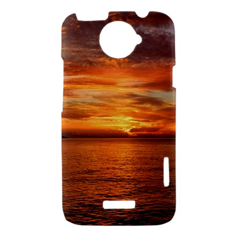 Sunset Sea Afterglow Boot HTC One X Hardshell Case