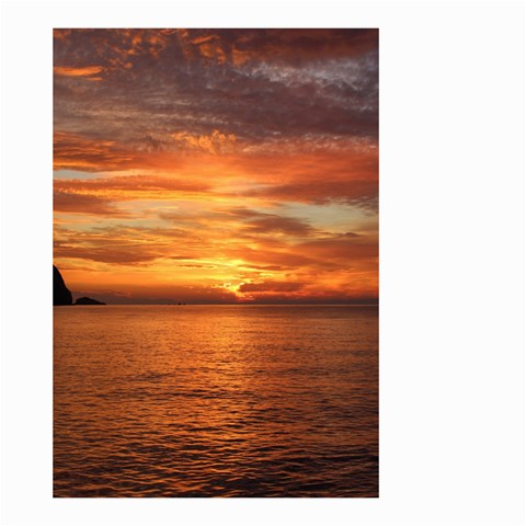 Sunset Sea Afterglow Boot Small Garden Flag (Two Sides)
