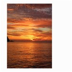 Sunset Sea Afterglow Boot Small Garden Flag (Two Sides) Back