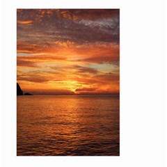 Sunset Sea Afterglow Boot Large Garden Flag (Two Sides)