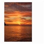 Sunset Sea Afterglow Boot Large Garden Flag (Two Sides) Back