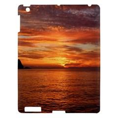 Sunset Sea Afterglow Boot Apple iPad 3/4 Hardshell Case