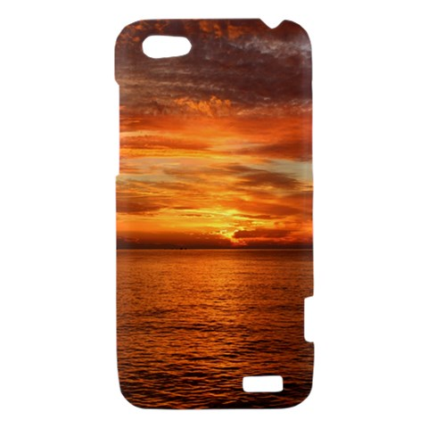 Sunset Sea Afterglow Boot HTC One V Hardshell Case