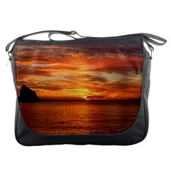 Sunset Sea Afterglow Boot Messenger Bags