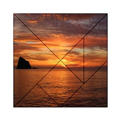 Sunset Sea Afterglow Boot Acrylic Tangram Puzzle (6  x 6 )