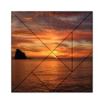 Sunset Sea Afterglow Boot Acrylic Tangram Puzzle (6  x 6 ) Front