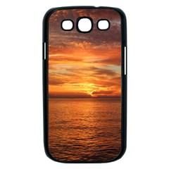 Sunset Sea Afterglow Boot Samsung Galaxy S III Case (Black)