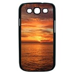 Sunset Sea Afterglow Boot Samsung Galaxy S III Case (Black) Front