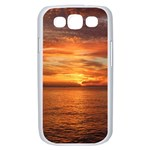 Sunset Sea Afterglow Boot Samsung Galaxy S III Case (White) Front