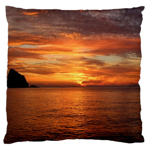 Sunset Sea Afterglow Boot Large Cushion Case (Two Sides)