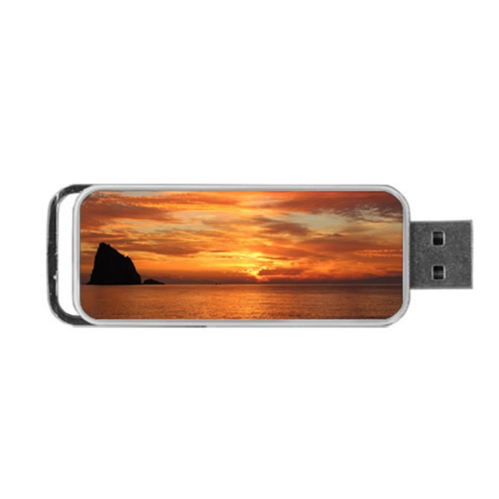 Sunset Sea Afterglow Boot Portable USB Flash (Two Sides)