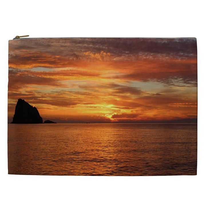 Sunset Sea Afterglow Boot Cosmetic Bag (XXL)