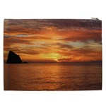 Sunset Sea Afterglow Boot Cosmetic Bag (XXL)  Back